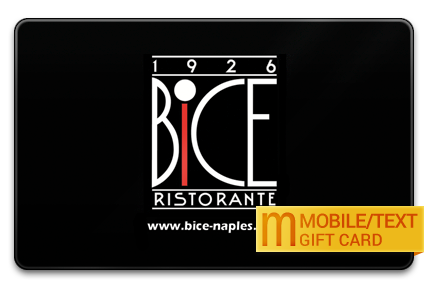BiCE Restaurant in Naples M-Gift Card